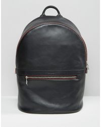 PS by Paul Smith - Leather Backpack In Black - Lyst