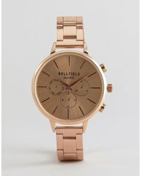 Bellfield - Rose Gold Watch - Lyst