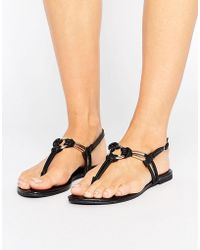 New Look - Leather Look Knot Detail Sandal - Lyst
