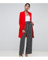 Missguided - Formal Coat In Red - Lyst
