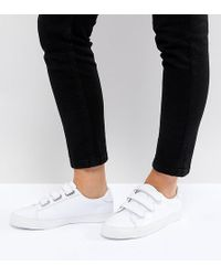 ASOS - Didi Wide Fit Strap Trainers - Lyst