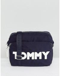 Tommy Hilfiger | Logo Nylon Cross Body Bag | Lyst