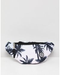 Hype - Logo Bum Bag In Palm Print - Lyst