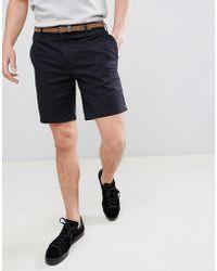 Pull&Bear - Chino Shorts In Navy - Lyst