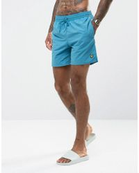 Lyle & Scott | Swim Shorts In Light Blue | Lyst