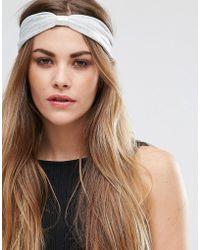 Glamorous - Metallic Knot Headband - Lyst