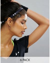 Under Armour - 6 Pack Hairbands - Black - Lyst