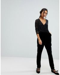 New Look - Leopard Mesh Jumpsuit - Lyst
