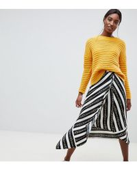 ASOS - Asos Design Tall Hanky Hem Midi Wrap Skirt In Chain Print - Lyst
