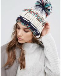 Pull&Bear - Rainbow Colored Bobble Hat - Lyst