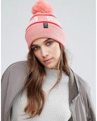 Pull&Bear - Logo Beanie Hat - Lyst