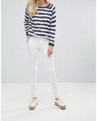 Blend She - Bright Whitney White Skinny Jeans - Lyst
