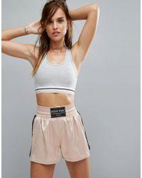 Pull&Bear - Jersey Stripe Gym Bra - Lyst