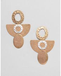 ASOS - Design Organic Shape Drop Earrings - Lyst
