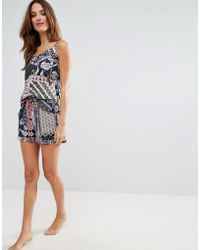 Glamorous - Multi Print Pyjama Short - Lyst