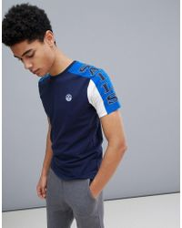 North Sails - Slim Fit T-shirt With Sleeve Print In Navy - Lyst