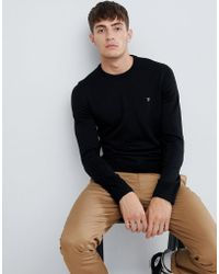 Farah - Mullen Merino Wool Jumper In Black - Lyst