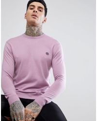 Pretty Green - Hinchcliffe Crew Jumper In Pink - Lyst