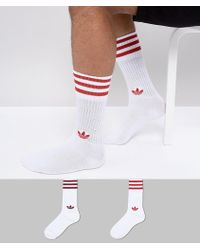 adicolor 2 Pack Crew Socks In Red CE5712 - Red adidas Originals Buy Cheap 2018 New Buy Cheap Pre Order Release Dates For Sale jwqw3qsX1
