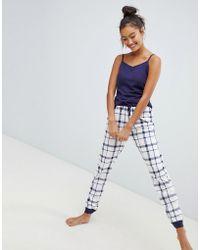 New Look - Check Pyjama Set - Lyst