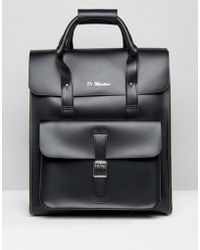 Dr. Martens - Leather Backpack With Yellow Stitching - Lyst