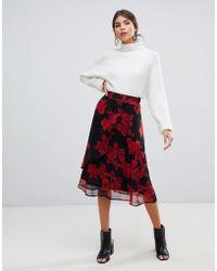 Y.A.S - Floral Midi Skirt - Lyst