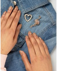 ASOS - Flamingo And Heart Badge Pack - Lyst