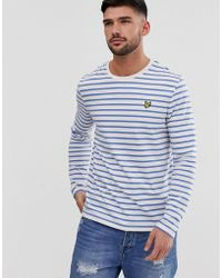 9a97e569f5 G-Star RAW Prebase Breton Stripe T-shirt - Blue in Blue for Men - Lyst