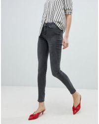 Vero Moda - Washed Skinny Jeans - Lyst