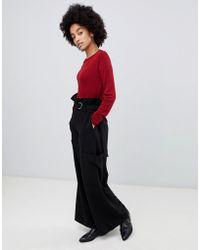 Dr. Denim - Highwaisted Utility Trouser With Belt - Lyst