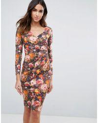 Vesper - Long Sleeve Floral Dress - Lyst