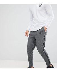 SIKSILK - Crop Trousers In Dark Grey Herringbone - Lyst