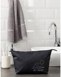 ASOS - Trousse de toilette brode Get Wavey - Lyst