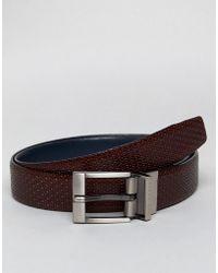 Ted Baker - Inka Reversible Belt In Leather - Lyst