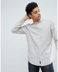 Threadbare - Cotton Linen Grandad Long Sleeve Shirt - Lyst