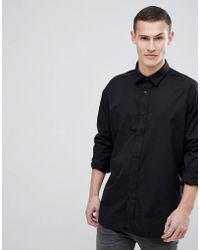 HUGO - Taping Under Sleeve Shirt In Black - Lyst