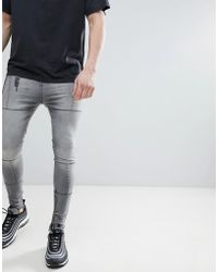 Religion - Super Tapered Fit Jeans With Panels - Lyst