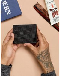 Esprit - Small Leather Wallet In Black - Lyst