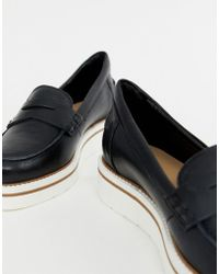 38402d92ac4 ALDO Leather Chunky Sole Tassel Loafers in Black - Lyst
