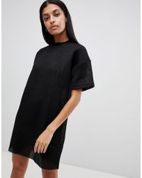 Uncivilised - Mesh Tee Dress - Lyst