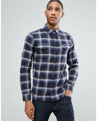 Blend - Regular Fit Check Shirt - Lyst