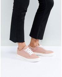 1eb4119b6b Lyst - Asos Dani Wide Fit Mesh Sneakers in Natural