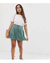 9350ca126b ASOS A-line Linen Mini Skirt in White - Lyst