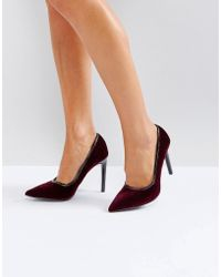 Ivyrevel - Heeled Velvet Pointed Court Shoe With Pu Trim - Lyst