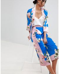 Ted Baker - Pleat Back Jacket In Harmony Floral - Lyst