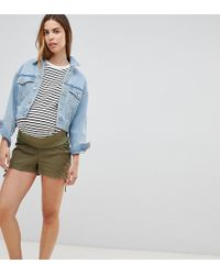 ASOS - Asos Design Maternity Basic Ruched Side Shorts - Lyst