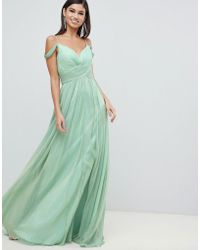 23c953fda6d Forever Unique - Maxi Dress With Sweetheart Neckline - Lyst