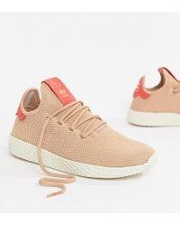 06c4d691f adidas Originals - Pharrell Williams Tennis Hu Sneakers In Pink - Lyst