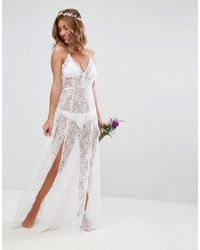 ASOS - Bridal Beach Lace Maxi Dress - Lyst
