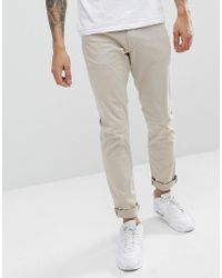 Emporio Armani | J06 Slim Fit 5 Pocket Trousers In Beige | Lyst